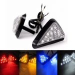 1pair Motorcycle Universal Triangle Flush Mount LED Turn Signal Light