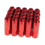 20pcs M12X1.5 Aluminum Car Wheels Rims Lug Nuts Spiked Extended Tuner