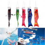 40cm Multicolor Koi Nobori Carp Wind Sock Koinobori Fish Kite Flag Hanging Decor