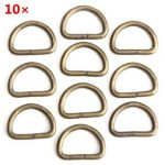 10pcs D Rings Ferrule Ribbon Clasp Knapsack Belt Buckle 38mm