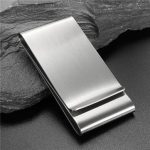Stainless Steel Three Hold Silver Slim Money Clip Wallet