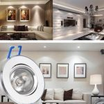 3W 300LM 3500K Warm White LED Ceiling Light 100-240V