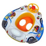 Kids Baby Inflatable Pool Seat Float Boat Swimming Wheel Horn