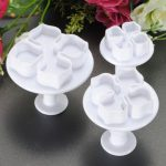 3pcs Laurustinus Cake Decorating Cutter Flower Mold