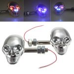 Universal Motorcycle Skeleton Head Turn Light Indicators Lights