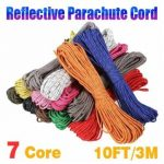 10 Feet 7 Strand Internal Core Reflective 550 Paracord