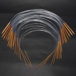 18 Sizes Circular Carbonize Bamboo Knitting Needles