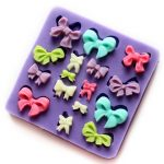 Silicone Bows Cake Mold Cookie Biscuit Jelly Mould