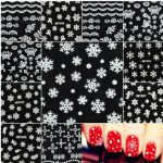 Christmas Snowflakes Snowmen Nail Art Stickers Decals