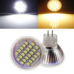 MR11 24 SMD 3528 1.5W Warm White/White AC/DC 12V LED Spot Light Bulb