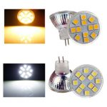 MR11 LED Bulb 2.5W 12 SMD 5050 Warm White/White AC/DC 12V Spot Light
