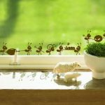 Honana Ants Moving Decorative Wall Art Stickers Black Brown Green
