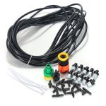 10m/33Ft Micro Garden Misting Cooling System Atomization Spray Nozzle