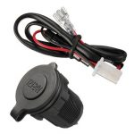 Waterproof Power Socket Car Motorcycle Cigarette Lighter Plug 12V 24V