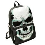 Fahsion Cool Punk Style Skull Women Backpack Students Schoolbag