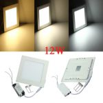 12W Square Ultrathin Ceiling Energy-Saving LED Panel Light 85-265V