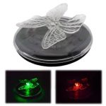 Solar Power LED RGB Color Change Floating Light Butterfly Dragonfly