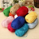 12Color Fingering Knitting Yarn Smooth Woolen Cotton Bamboo Yarn