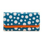 Fashion Candy Color Polka Dots Wallet Women 3 Folds Clutch Long Purse