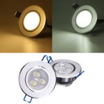 3W Dimmable Bright LED Recessed Ceiling Down Light 85-265V