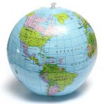 38cm PVC Inflatable Earth Globe Home Decor Geographical Education Tool