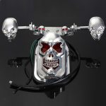 Skull Motorcycle ATV Rear Taillight Turn Signal Brake Plate