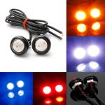 Car 10W LED Eagle Eye Light Daytime Running Backup Lamp 12V