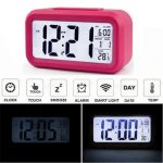 LED Digital LCD Alarm Clock Time Calendar Thermometer Snooze Backlight