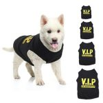 VIP Pet Vest Dog Puppy T Shirt Very Important Pup Black Clothing Waistcoat