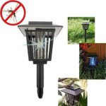 3in1 Solar LED Garden Lamp Light Mosquito Insect Repellent Zapper Lamp