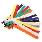 50 pcs 9 Inch Colorful Tailor Sewing Nylon Coil Closed End Zippers