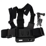 Chest Body Strap with 3-way Adjustment Base for SJ4000 Gopro