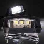 12V 3 LED Number Plate License Light Motorcycle Lamp