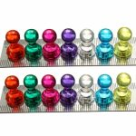 14pcs Strong Magnetic Thumbtacks Neodymium Pins Fridge Magnets Teaching Painting Thumbtack