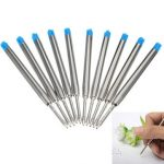 10PCS Blue Ballpoint Refills for Parker Style Ink