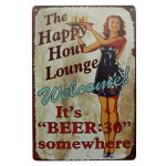 Lounge Beer Tin Sign Vintage Metal Plaque Pub Bar Home Wall Decor