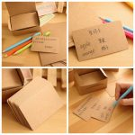 100pcs Brown Vintage DIY Bookmark Cardboard Tags Message Card Wedding Party Gift Tags