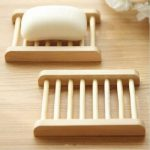 Trapezoid Natural Bamboo Wooden Soap Box Eco-Friendly Soap Holder