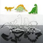 4Pcs Stainless Steel Dinosaur Biscuit Cookie Cutter Tools