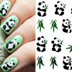 Panda Pattern Design Water Decals Transfers Nail Sticker