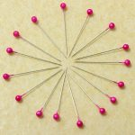 800Pcs Round Pearl Head Pins Weddings Corsage Sewing Pin