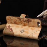 World Map Pattern PU PC Protector Leather Cover Case For iPhone 6