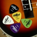 50pcs Electric Guitar Picks Plectrums(Assorted thickness colors)