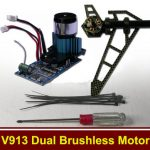 WLtoys V913 RC Helicopter Parts Upgraded Kit Dual Brushless Motor