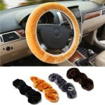 Warm Plush Winter Car Steering Wheel Cover Soft Auto Accessories