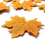 50pcs Artificial Autumn Maple Leaves Home Garden Decoration