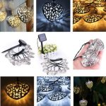 3.6m 12 LED Solar Powered Hearts String Fairy Lights Christmas Decor