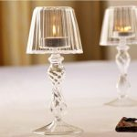 Crystal Glass Candle Tealight Holder Table Lamp Home Decoration
