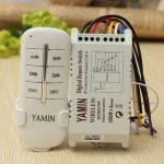 Wireless 4 Channels 220V Lamp Remote Control Switch Transmitter