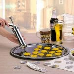 Stainless Steel Non-Stick Cookie Press Set Include 22 Shapes 4 Decorating Tips